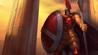 Sparta league of legends pantheon moba panteon wallpaper