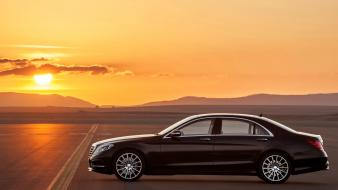 Sunset cars s class mercedes benz wallpaper