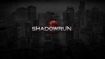 Video games robots magic shadowrun science fiction wallpaper