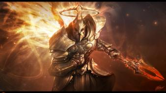 Wings fantasy art armor artwork archangel halos wallpaper