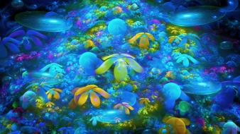 Abstract coral reef wallpaper