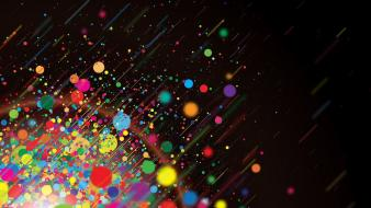 Abstract multicolor dots glow Wallpaper