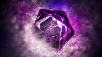 Abstract purple shapes digital art artwork wallpaper