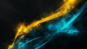 Abstract yellow streaks wallpaper