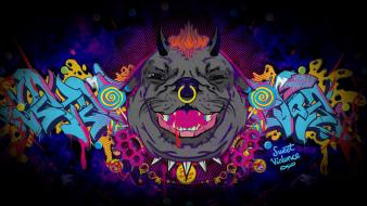 Animals david psychedelic wallpaper