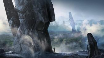 Art concept artwork 4 forerunner 343 industries Wallpaper