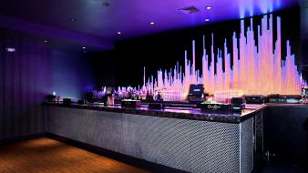 Bar lighting night club led neon lounge Wallpaper