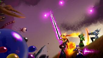 Battles terraria girls with swords bfg bfs Wallpaper
