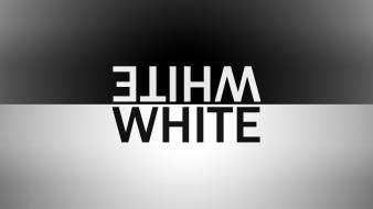 Black white typography simple background wallpaper