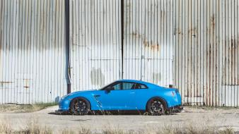 Blue black wheels nissan gtr Wallpaper