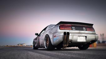 Cars nissan 300zx low-angle shot rear angle view wallpaper