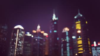 Cityscapes china skyscrapers bokeh shanghai blurred ed mcgowan Wallpaper
