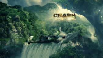 Crash apocalyptic photo manipulation photomanipulation apocalypse airplane Wallpaper