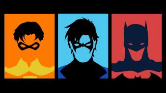 Dc comics superheroes nightwing profile fan art wallpaper