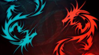Dragons digital art artwork wallpaper