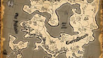 Fantasy art maps treasure wallpaper