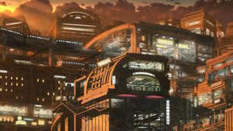 Futuristic future science fiction artwork cities wallpaper