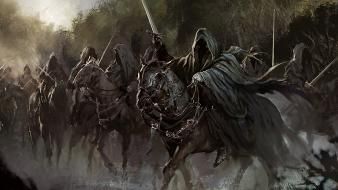 Horses nazgul artwork jrr tolkien ring wraiths wallpaper