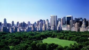 Landscapes buildings new york city central park wallpaper