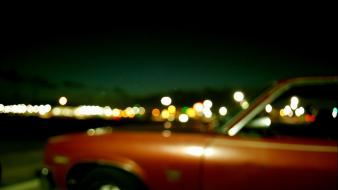 Lights cars red blurred wallpaper