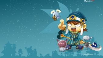 Mage video games sorcerer magician staff maplestory game wallpaper