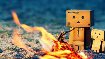 Nature danboard artwork campfire wallpaper