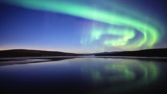 Nature outer space aurora skies Wallpaper