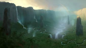 Of warcraft tropical fantasy landscape sholazar basin wallpaper