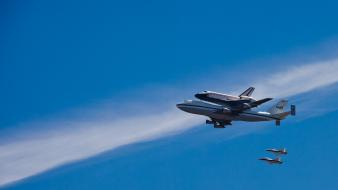 Outer space nasa shuttle endeavor wallpaper