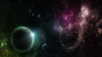 Outer space stars planets science fiction sci-fi wallpaper