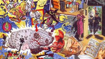 Paintings surrealism psychedelic artwork brains robert williams wallpaper