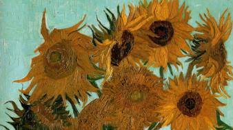 Paintings vincent van gogh sunflowers vases still life Wallpaper