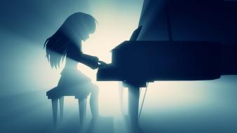 Piano angel beats! tachibana kanade monochrome photoshop beats wallpaper