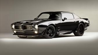 Pontiac firebird 1970 customized muscle car garage wallpaper