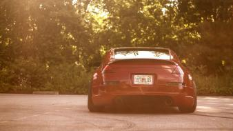 Red tuning nissan 350z stance wallpaper