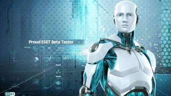 Robots technology security bot modern think eset softwares wallpaper