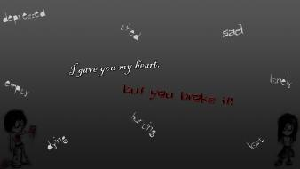 Sadness heart anger tired depression hurting dying wallpaper