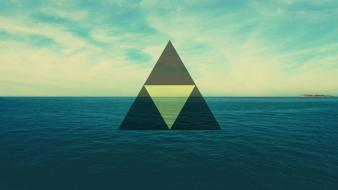 Shapes triangles sea wallpaper