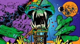 Skulls outer space music iron maiden Wallpaper