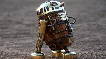 Star wars robots steampunk little r2d2 handmade wallpaper