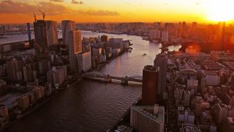 Sunset japan tokyo cityscapes wallpaper