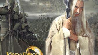 The lord of rings saruman christopher lee wallpaper