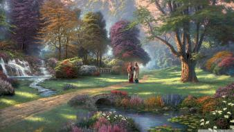 Thomas kinkade jesus wallpaper