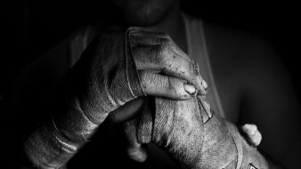 White fight boxing monochrome bandages training fighter wallpaper