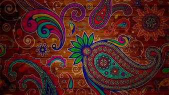 Abstract multicolor paisley wallpaper
