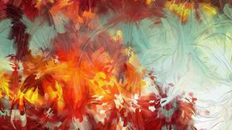 Abstract paintings multicolor artwork patrick gunderson wallpaper