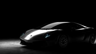 Black cars lamborghini gallardo wallpaper
