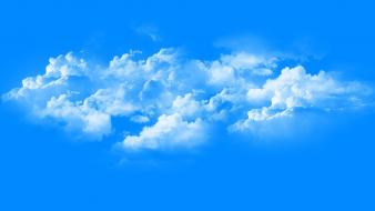 Blue clouds skyscapes simple light wallpaper