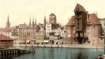 Danzig palace gdansk old photo photography sea wallpaper