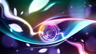 Digital Abstract Eye Hd wallpaper